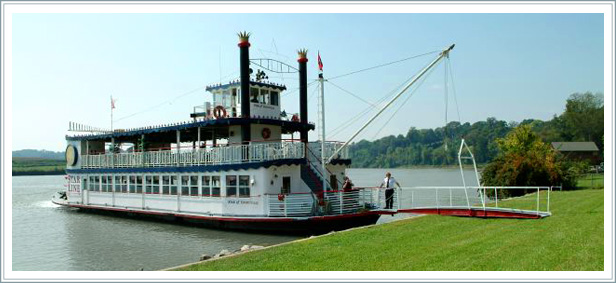 riverboat landing at crescent bend